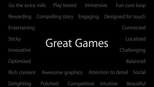 Ingredients of Great Games