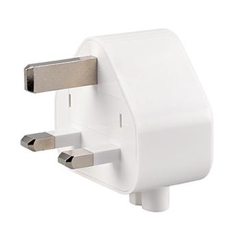 Three-prong wall plug adapter