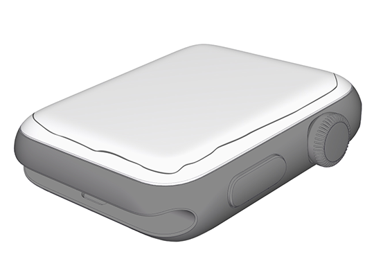 Apple Watch, angled side view