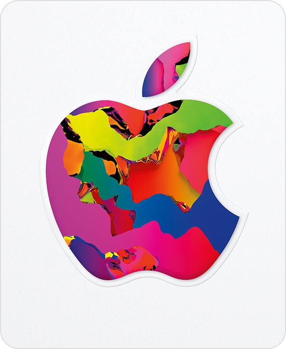 Apple Gift Card showing a colorful Apple logo on a white background.