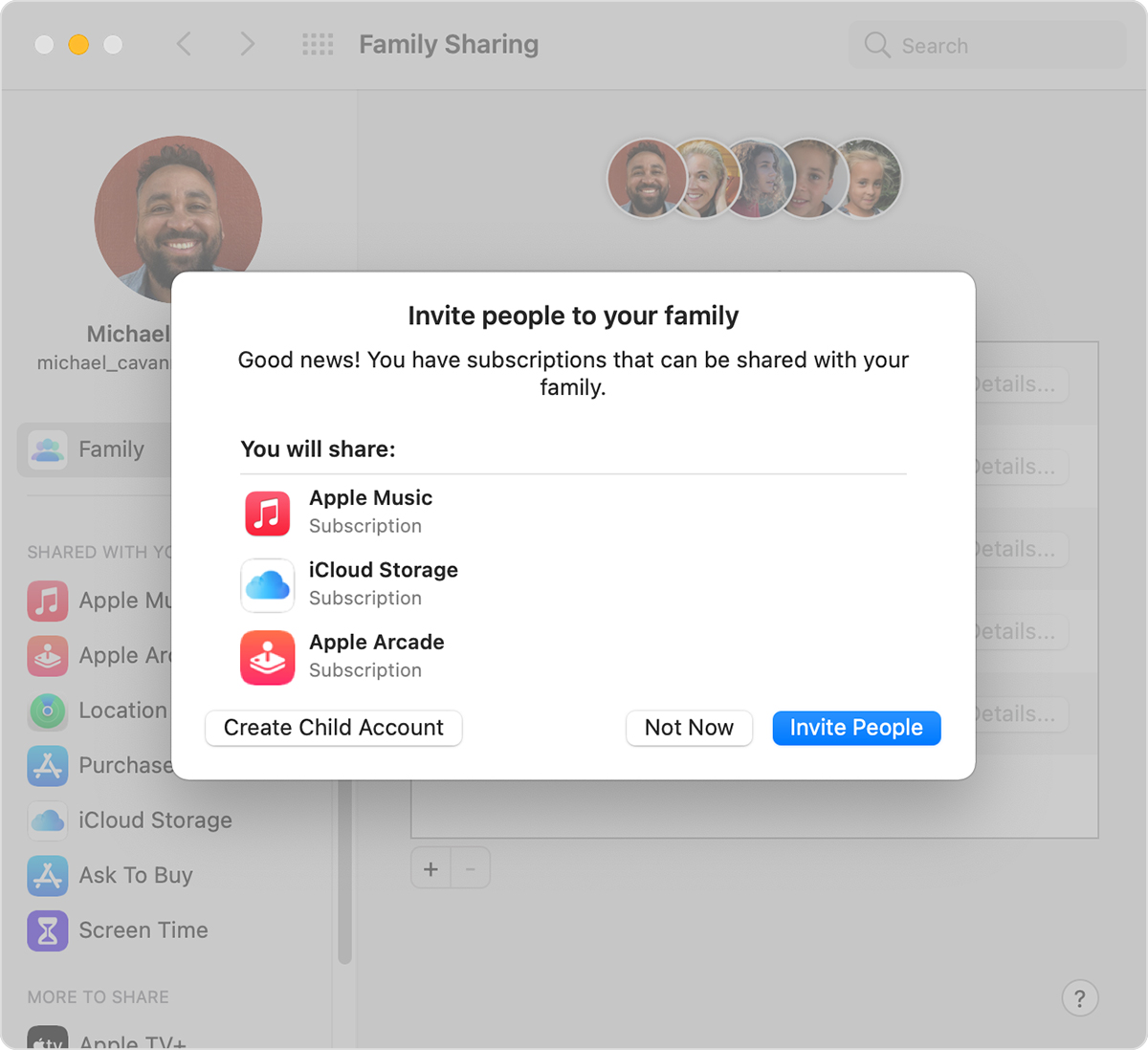 Mac showing the Invite People button.