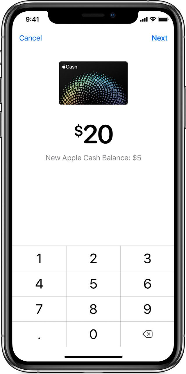 Transferring your Apple Cash balance