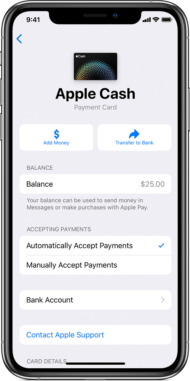 How to add money to your Apple Cash account