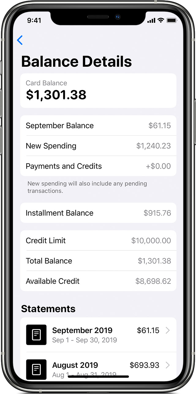 See your Card Balance details in the Wallet app
