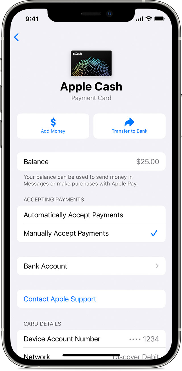 How to automatically or manually accept payments with Apple Cash