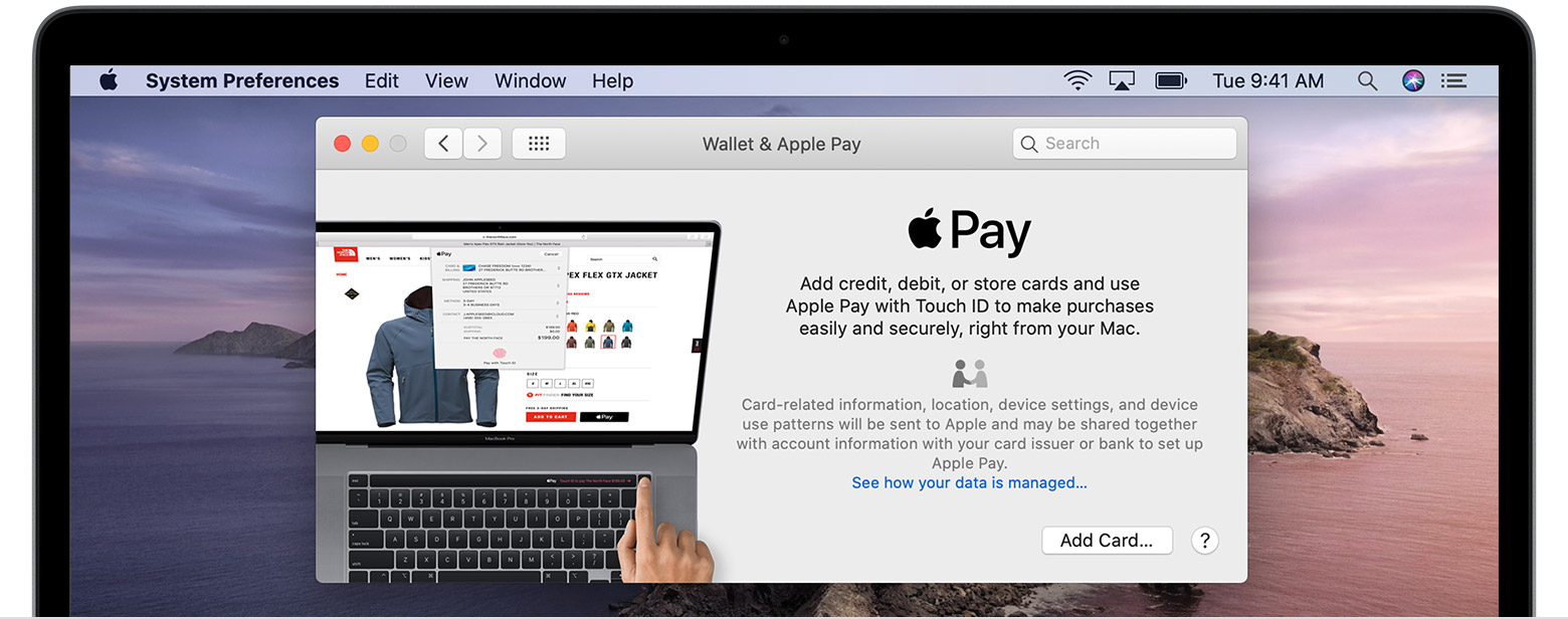 Add a card to Apple Pay on Mac