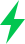 green lightning bolt
