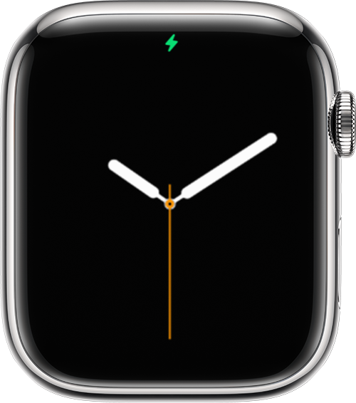 Apple Watch showing charging icon