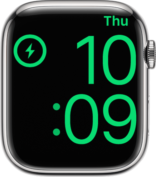 Apple Watch showing time