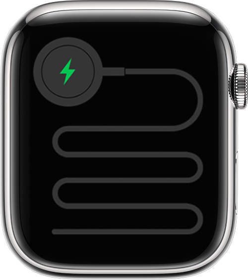 Apple Watch showing that the watch has been connected to power