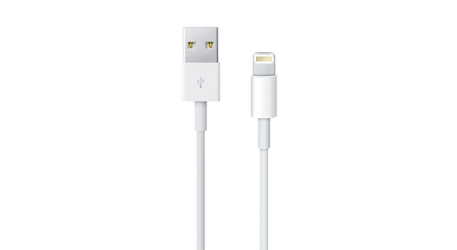 A lightning to USB cable