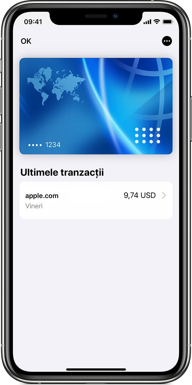 Verificarea tranzacțiilor ApplePay