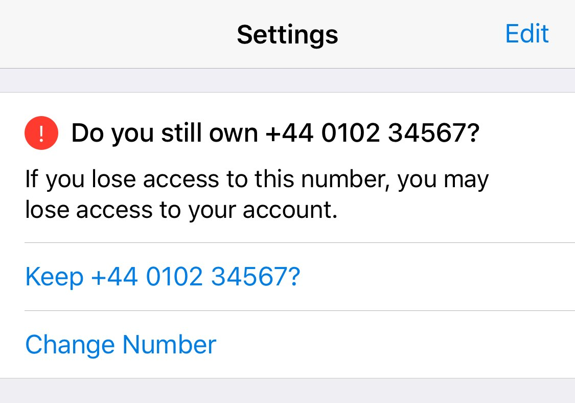 Reminder about keeping your phone number up to date