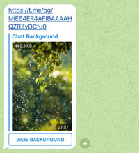 Message containning a Telegram background
