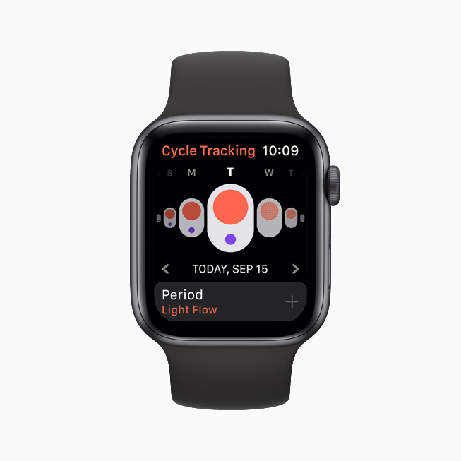 Cycle Tracking displayed on Apple Watch.
