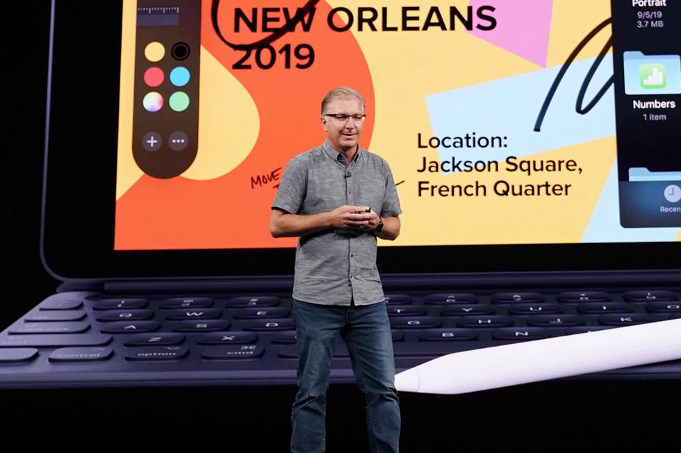 Greg Joswiak on stage.