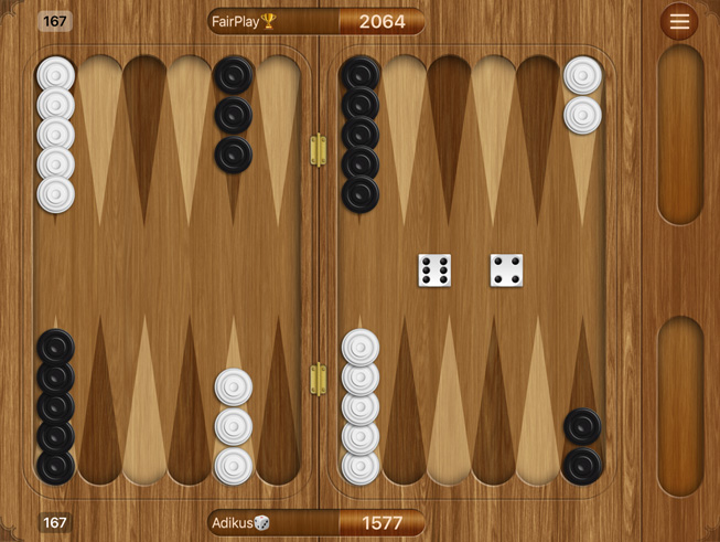 "A still from the game ""Backgammon."""