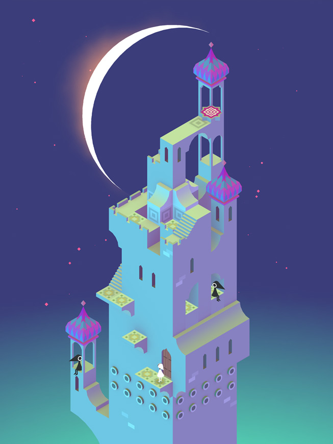 "A still from the game ""Monument Valley."""