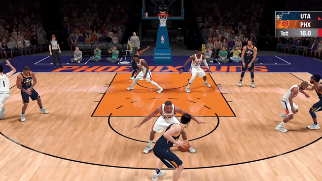 "A still from the game ""NBA 2K21 Arcade Edition."""