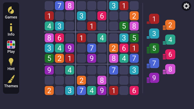 "A still from the game ""Sudoku Simple."""