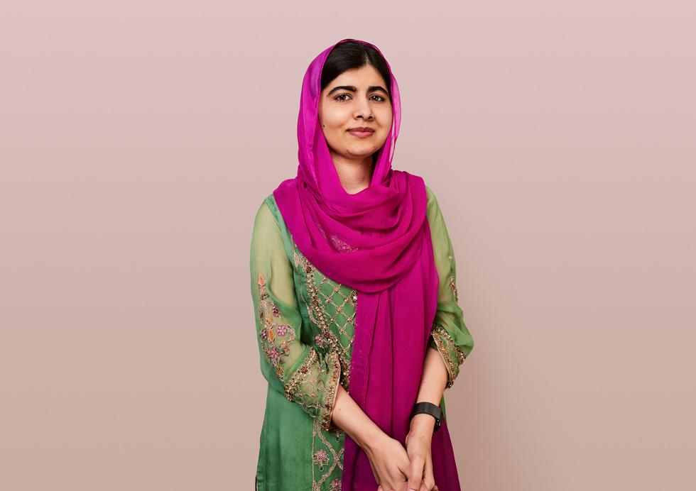 Women's rights activist and Nobel laureate Malala Yosafzai.