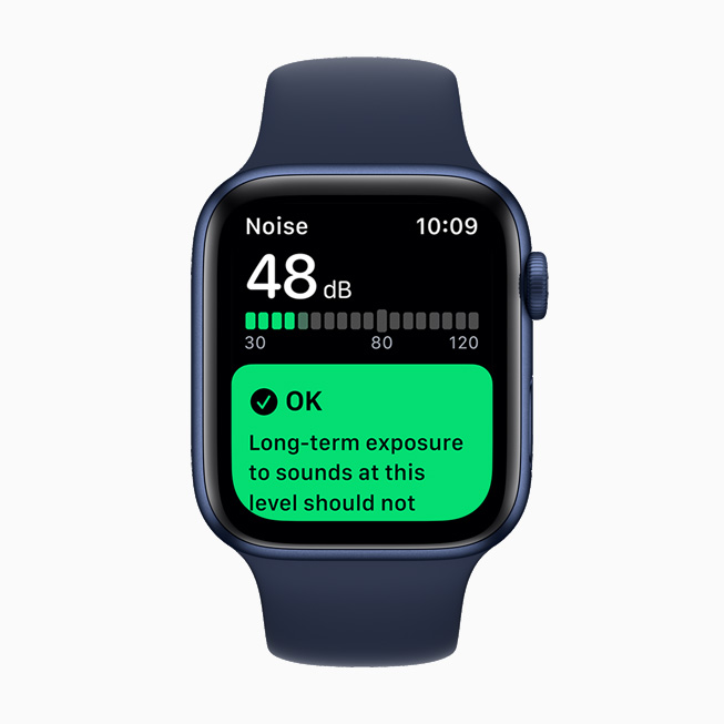The Noise app, displayed on Apple Watch Series 6.