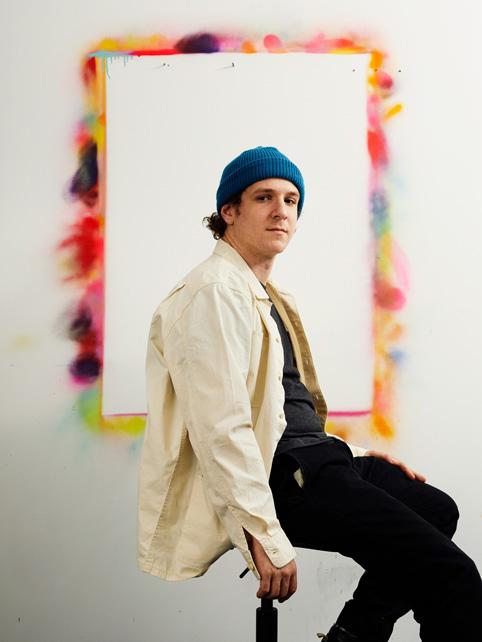 "Eric ""Efdot"" Friedensohn in his Brooklyn studio."