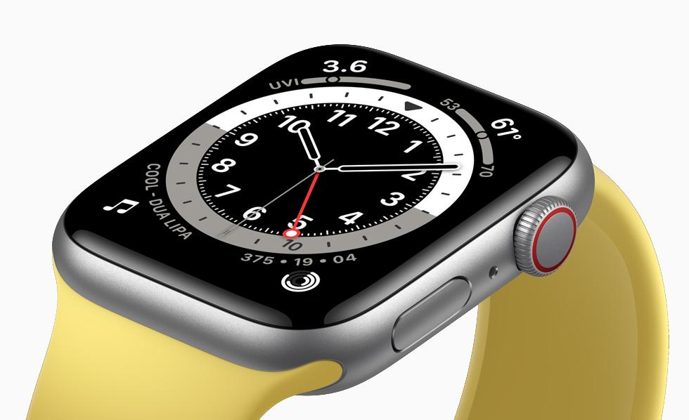 Retina display on Apple Watch SE.