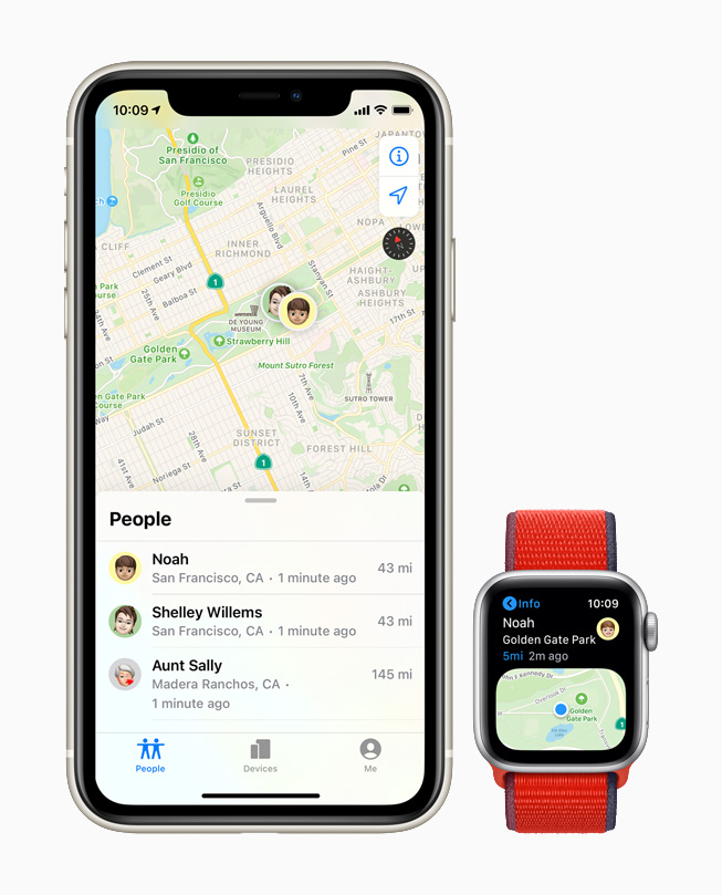 The Find People app on Apple Watch.