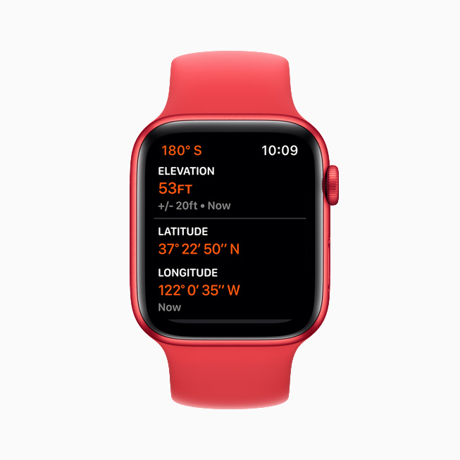 The always-on altimeter on Apple Watch Series 6.