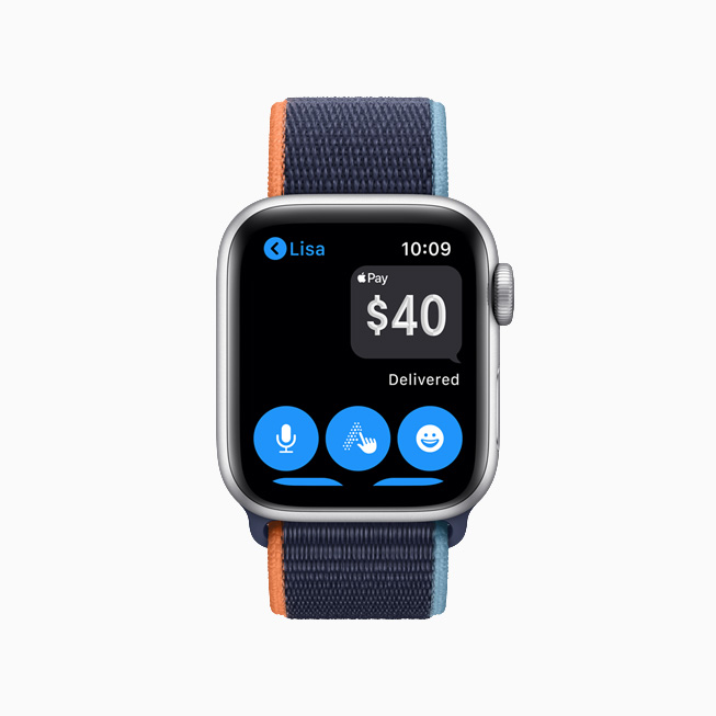 Apple Pay in Messages on Apple Watch.