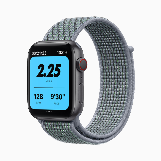 Apple Watch Nike with green-gray Sport Loop