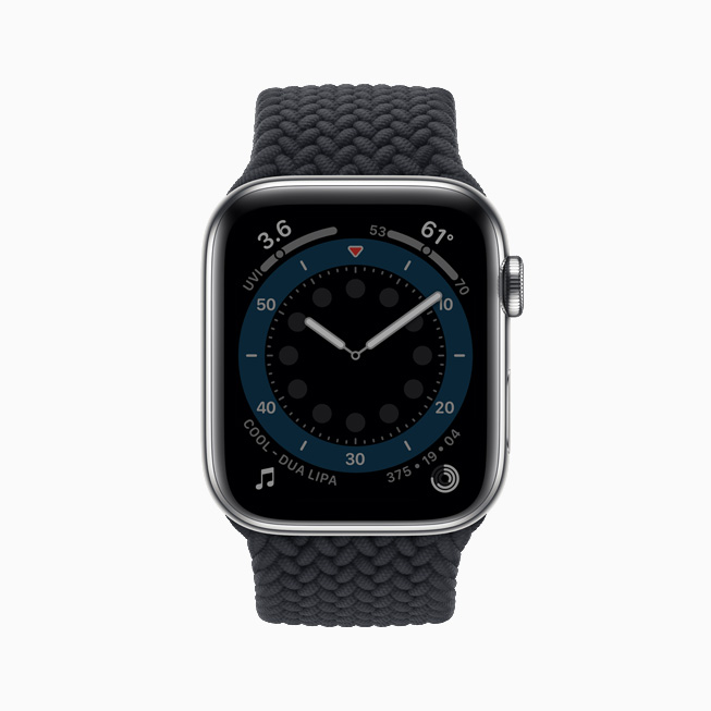 Always-On Retina displayed on Apple Watch Series 6.