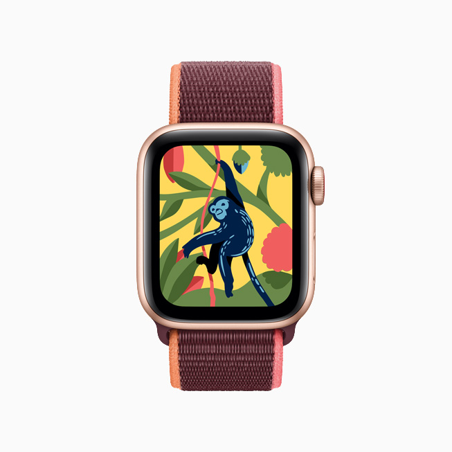 The Coloring Watch kids app on Apple Watch.