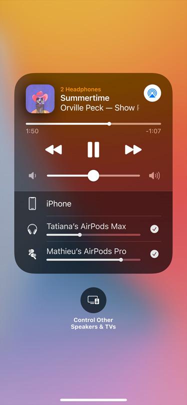 Pildil on ekraanil kuvatav heli jagamise kaart.