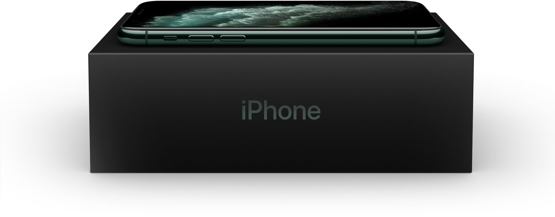 iPhone 11 Pro placed on top of its packaging