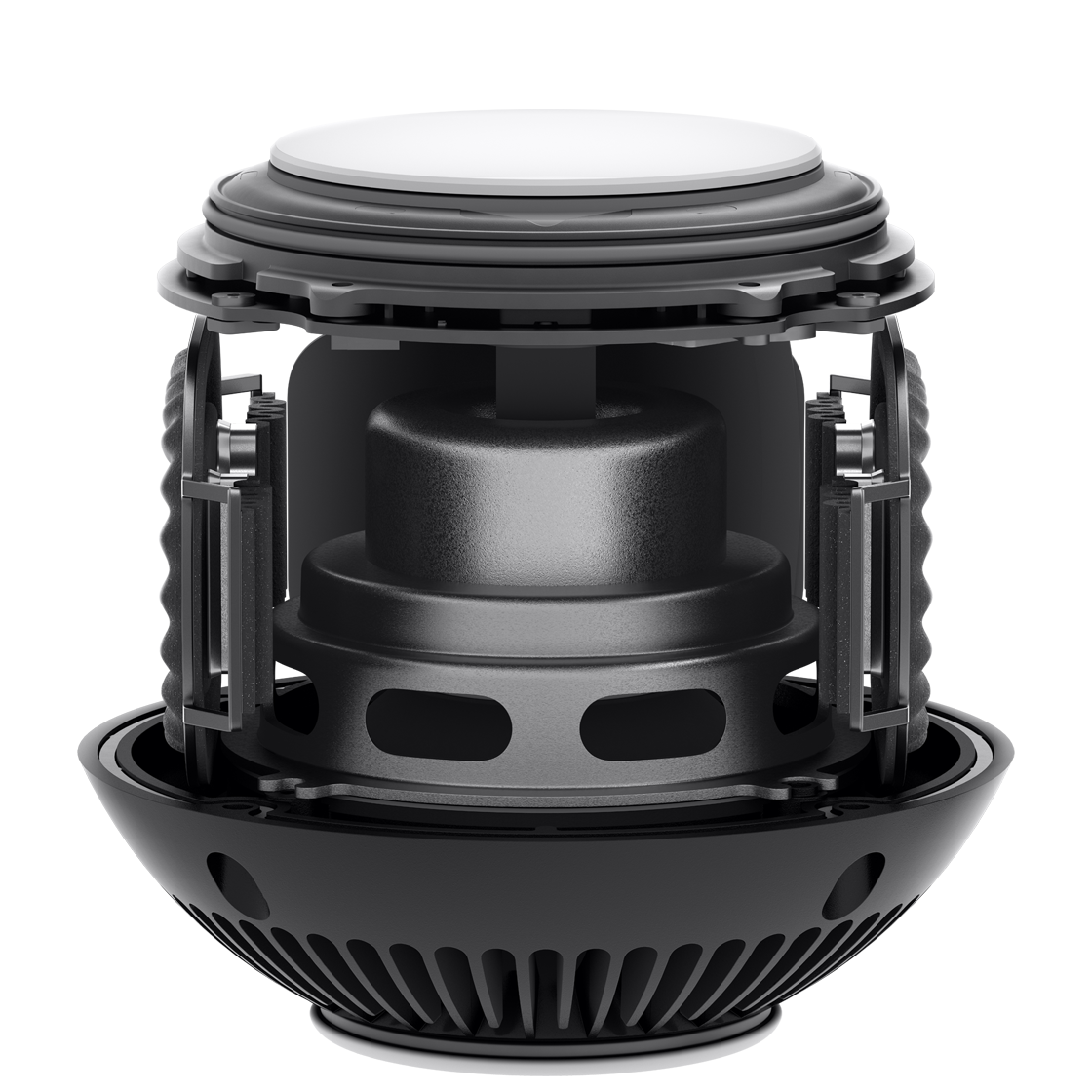 Interior speaker elements of HomePod mini.