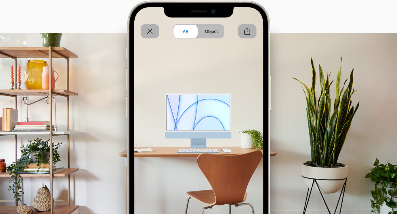 Preview of iMac AR experience on iPhone