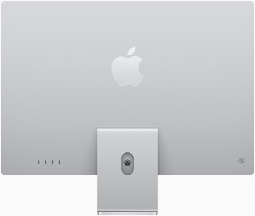 Back view of iMac in silver
