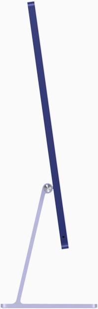 Side view of iMac in purple