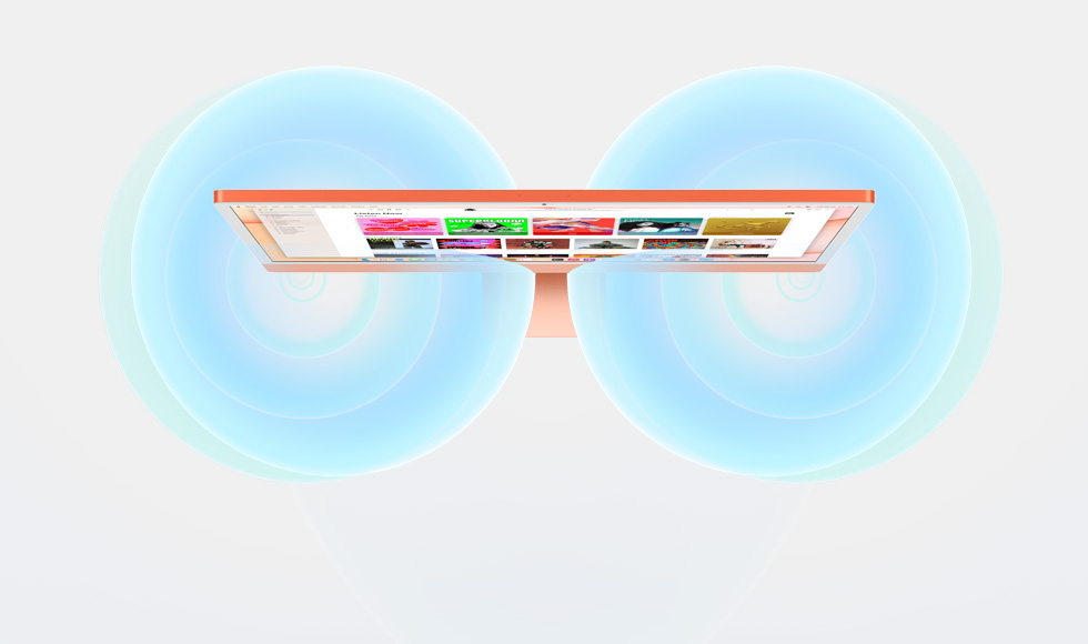 illustration of the sound stage produced by iMac