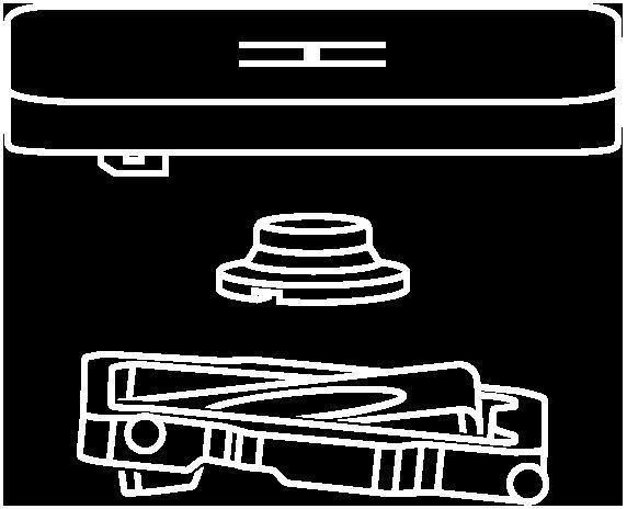 Deconstructed view of the MagicKeyboard scissor mechanism